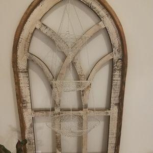 Vintage | White Hanging Tiered Fruit Basket